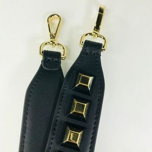 Closet Rehab Bags - Black Bag Strap with Black and Gold Square Rivets